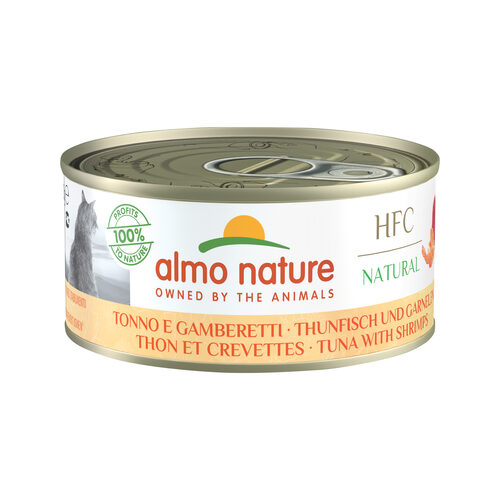 Almo Nature HFC Natural Alimentation pour chat - Thon & crevette