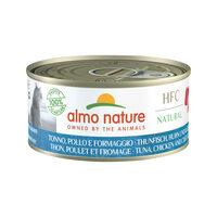 Almo Nature HFC 150 Natural Kattenvoer - Tonijn, Kip & Kaas