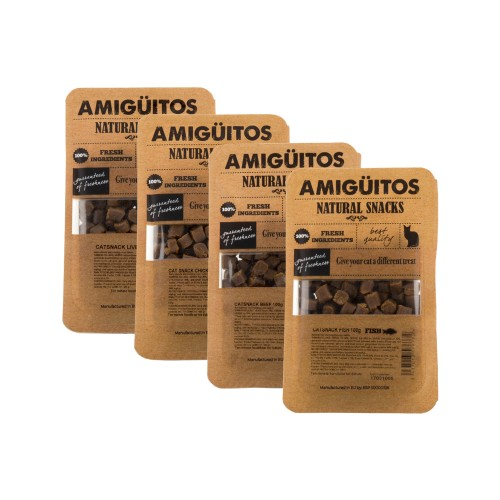 Amigüitos Cat Snacks Friandises pour Chat
