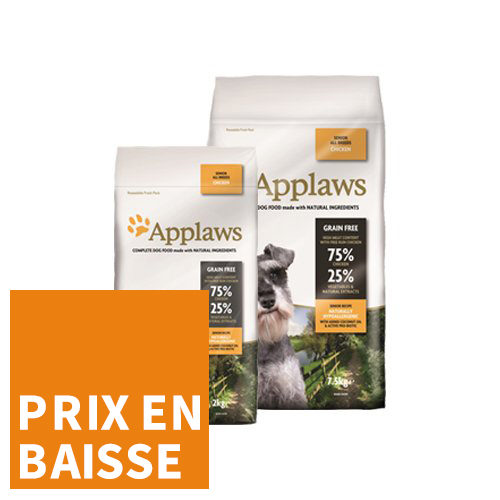 Applaws Dog - All Breeds Senior - Poulet - pour Chien Senior
