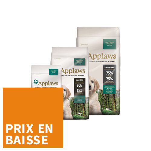 Applaws Puppy - Small & Medium - Poulet - pour Chiot