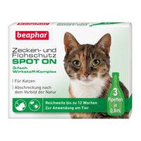 Beaphar Zecken- und Flohschutz Spot-On für Katzen