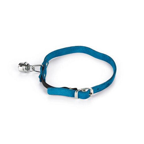 Beeztees Wildleder Halsband Katze - Hellblau