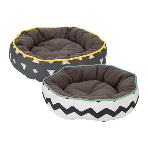 Beeztees Round Cat Bed with Print