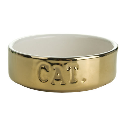 Beeztees Gold Cat Food Bowl