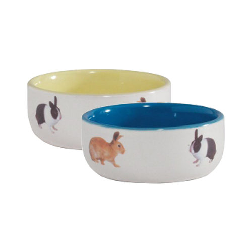 Beeztees Ceramic Rabbit Food Bowl