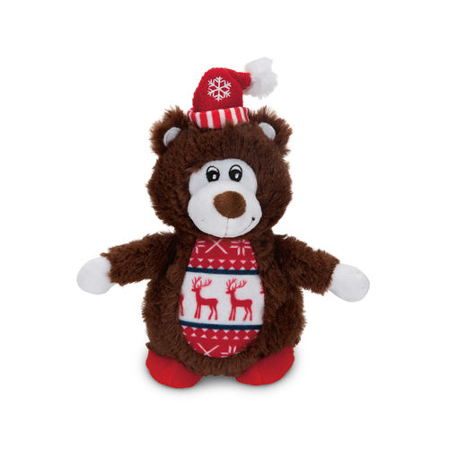 Beeztees Pluche Kerstbeer