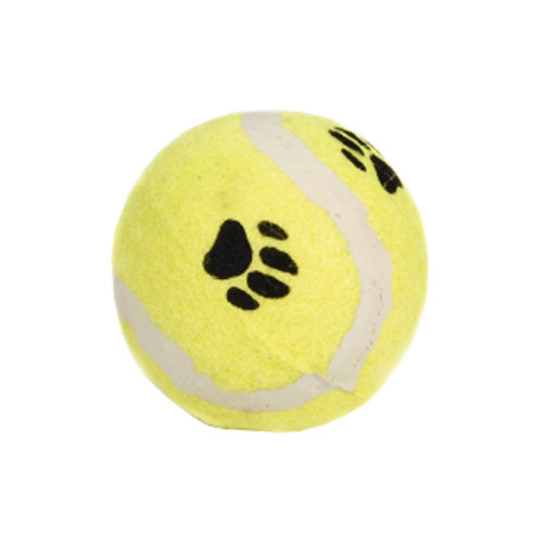 Beeztees Tennis Ball with Paw Print