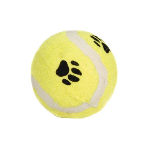 Beeztees Balle de tennis avec imprimé patte