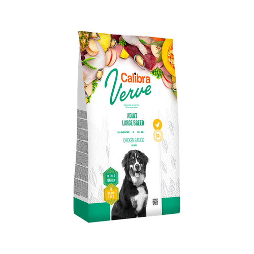 Calibra Verve Graanvrij Adult Large Hondenvoer - Kip en Eend