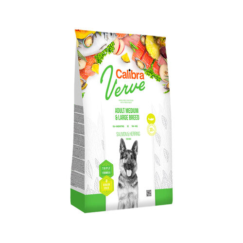 Calibra Verve Grain Free Adult Medium/Large - Lachs & Hering