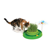 Catit Play Circuit Ball Toy with Grass Planter