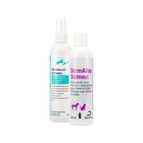 DermAllay Oatmeal shampoo en spray conditioner
