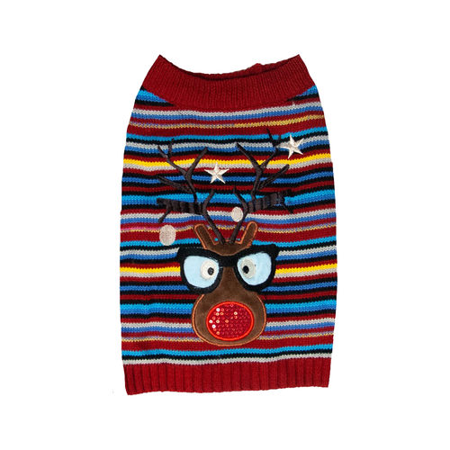 Dog Life Flashing Reindeer Jumper