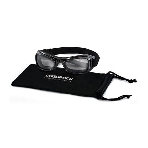 Dogoptics Hondenzonnebril Biker - Black Frame & Smoke Lens