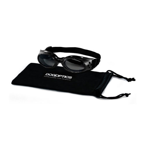 Dogoptics Hondenzonnebril Ibiza - Black Frame & Mirror Lens