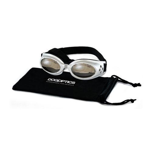 Dogoptics Hundesonnenbrille Ibiza - Silver Frame & Mirror Lens