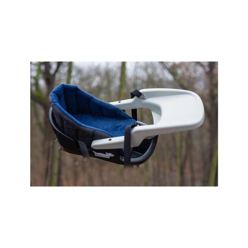 Dogrider Dog Seat + Mand - Blauw