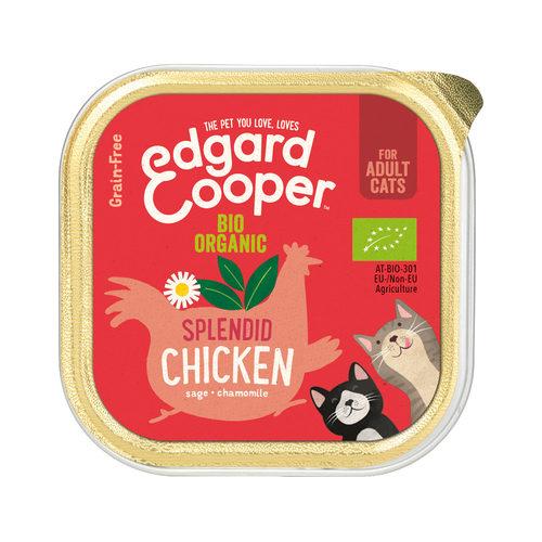 Edgard & Cooper Adult Cat - Bio-Huhn - im Schälchen