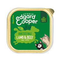 Edgard & Cooper Adult Cat - Lamm & Rind - im Schälchen