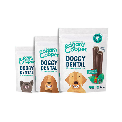 Edgard & Cooper Doggy Dental - Munt & Aardbei
