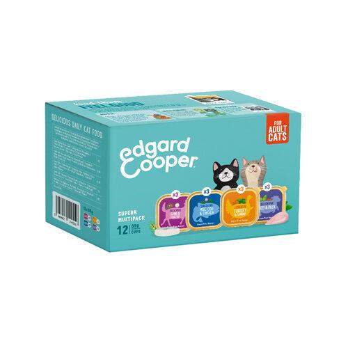 Edgard & Cooper Multipack Kattenvoer - Kuipje - Kabeljauw / Wild / Kalkoen & Rund