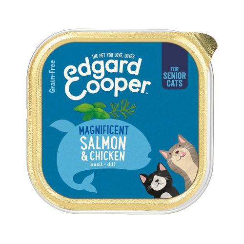Edgard & Cooper Senior Cat - Huhn & Lachs - im Schälchen