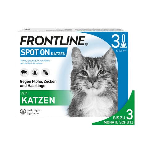 Frontline Spot On für Katzen - gegen Zecken, Flöhe und Haarlinge