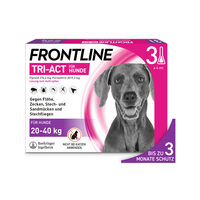 Frontline Tri-Act für Hunde 20-40 kg - gegen Zecken, Flöhe und fliegende Insekten