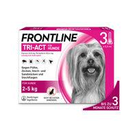 Frontline Tri-Act für Hunde 2-5 kg - gegen Zecken, Flöhe und fliegende Insekten