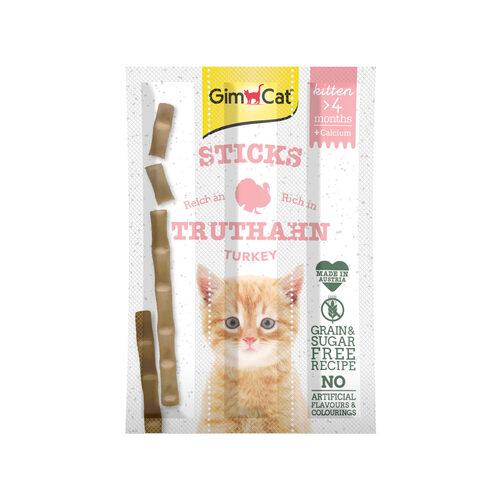 GimCat Kitten Sticks - Kalkoen