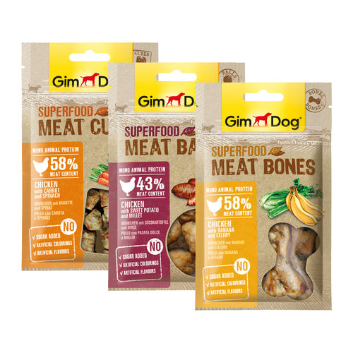 GimDog Superfood Meat Bones - Mixpackung