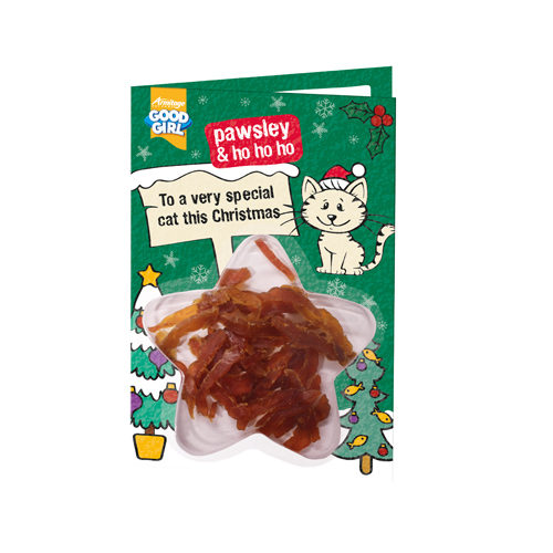 Good Girl Meaty Treats Weihnachtskarte