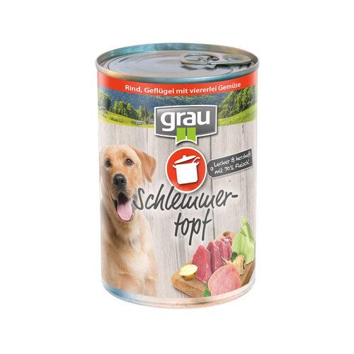 Grau Adult Hondenvoer - Rund, gevogelte en 4 soorten groenten - Blik