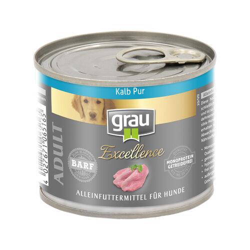 Grau Excellence Adult Puur Hondenvoer - Kalf - Blik