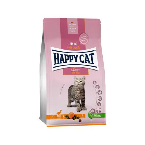 Happy Cat Junior Kattenvoer - Eend