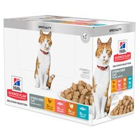 Hill's Science Plan - Feline Young Adult - Sterilised - Pouch Multipack
