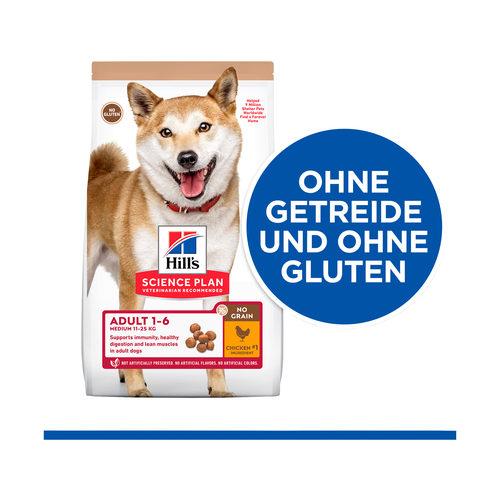 Hill's Science Plan No Grain Hundefutter Huhn - Adult Medium