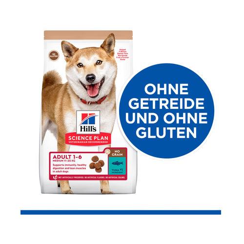 Hill's Science Plan No Grain Hundefutter Thunfisch - Adult Medium