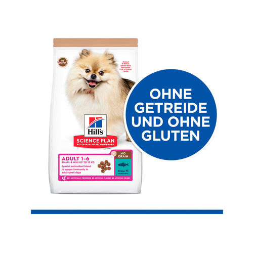 Hill's Science Plan No Grain Hundefutter Thunfisch - Adult Small