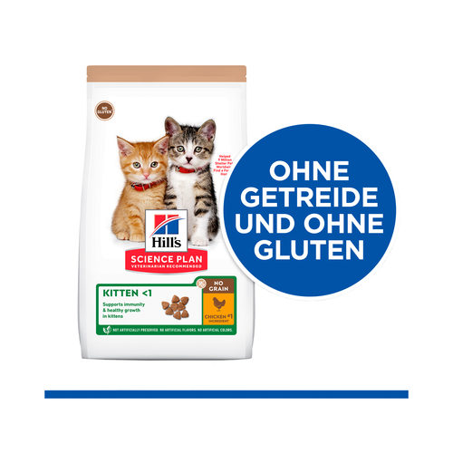 Hill's Science Plan No Grain Katzenfutter Huhn - Kitten