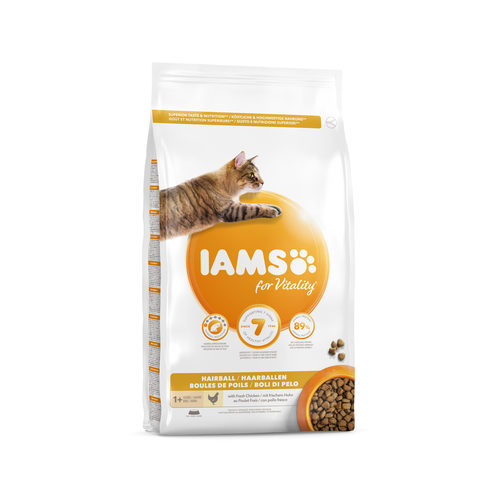 IAMS for Vitality Adult Cat Hairball