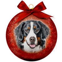 Weihnachtskugel Frosted - Berner Sennenhund