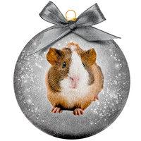 Weihnachtskugel Frosted - Meerschweinchen
