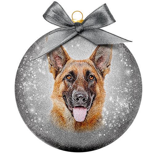 Weihnachtskugel Frosted - Deutscher Schäferhund