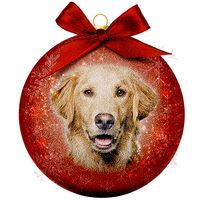 Weihnachtskugel Frosted - Golden Retriever