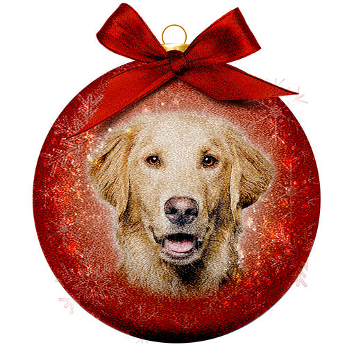 Boule de Noël Frosted - Golden Retriever