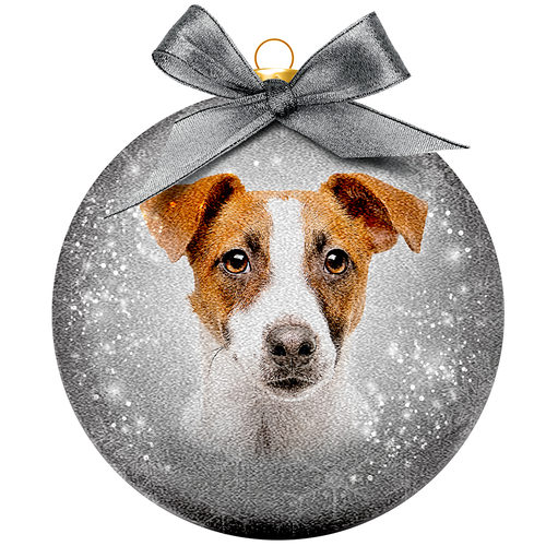 Weihnachtskugel Frosted - Jack Russell