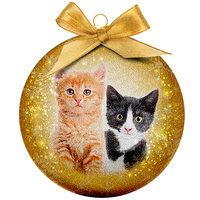 Weihnachtskugel Frosted - Katzen