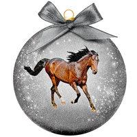 Weihnachtskugel Frosted - Pferd